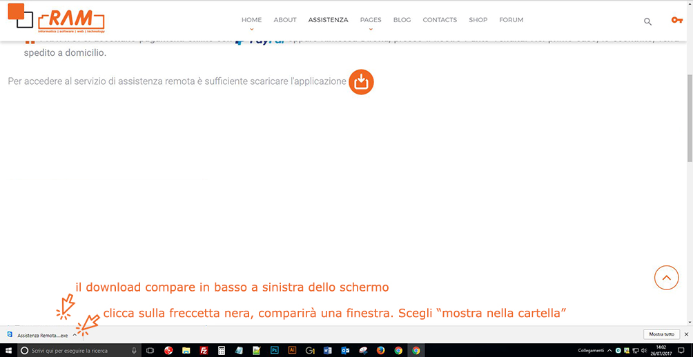 download file per assistenza remota